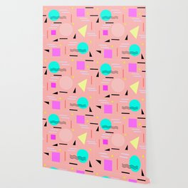 Memphis Forever - Peach Wallpaper