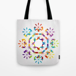 A large Colorful Christmas snowflake pattern- holiday season gifts- Happy new year gifts Tote Bag