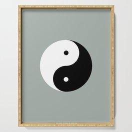 Taijitu / Yin and Yang Serving Tray
