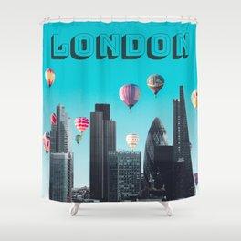 London England United Kingdom Skyline Downtown Shower Curtain