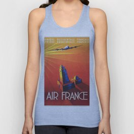 Vintage poster - French West Africa Unisex Tank Top