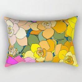 Succulent Frenzy Rectangular Pillow