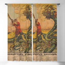 Vintage First World War Poster - Russia: The Resolute Brothers (1918) Blackout Curtain