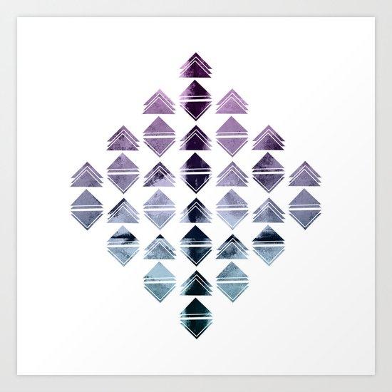 Rhombus triangles Art Print