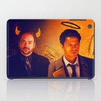 crowley iPad Cases featuring Good & Bad - Supernatural - Castiel Crowley by KanaHyde