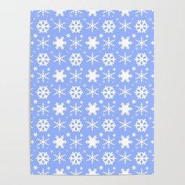 Snowflakes Blue Poster
