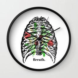 Breath flowers Wall Clock