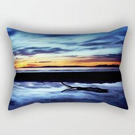 Reflections On Troon Beach Rectangular Pillow