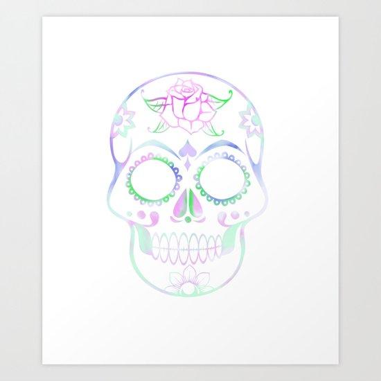 Love Skull (Pastel) Art Print