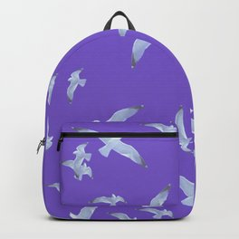 purple seagull day flight Backpack