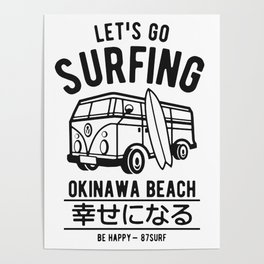 Let's Go Surfing Poster