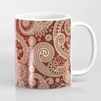 paisley Mugs featuring Paisley by Steve Mac