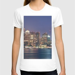Boston Skyline at Night T-shirt