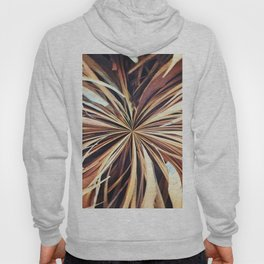 356 - Abstract Palm Fronds Design Hoody