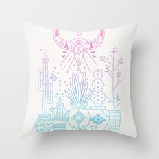 Santa Fe Garden – Rose Quartz & Serenity Throw Pillow