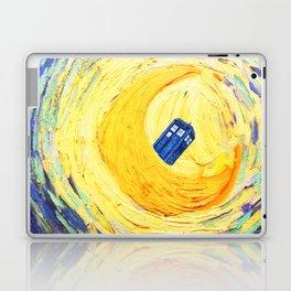 Tardis Flying With Circle Laptop & iPad Skin