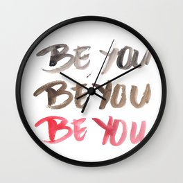 141116 Typography 1 Wall Clock