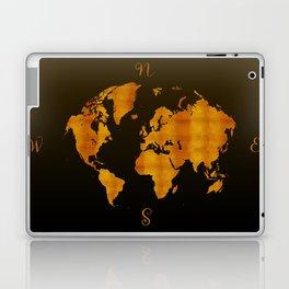MODERN GRAPHIC ART World Map    Redgold Laptop & iPad Skin