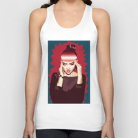grimes Tank Tops featuring Grimes by Arielle Herman