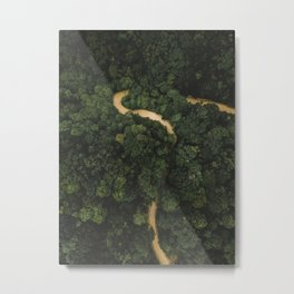 From Above Overview Of Dense Green Forest Metal Print