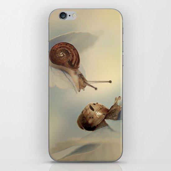 Snails on hydrangea iPhone & iPod Skin