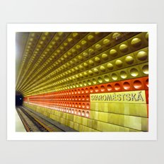 Train to Prague Art Print