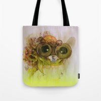 playstation Tote Bags featuring Weedy Playstation Frankenstein by Kid Doom