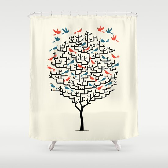 Out On a Lark Shower Curtain