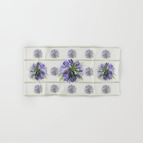 Blue purple flowers Hand & Bath Towel