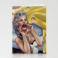 cherry Stationery Cards featuring CHERRY by Enola Jay