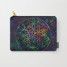 Flower of Life in the Universe - Universe in the Flower of Life Carry-All Pouch