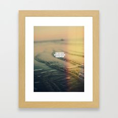 Calm Yourself Framed Art Print