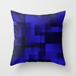 Pattern of sea squares with shadow and volume. Throw Pillow