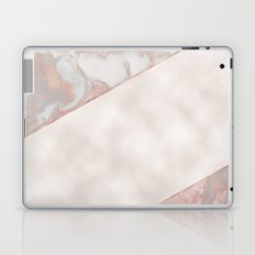 French polished rose gold marble & pearl Laptop & iPad Skin