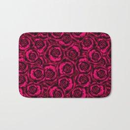 Raspberry roses. Bath Mat