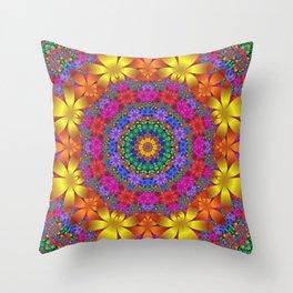 floral mandala -1- Throw Pillow
