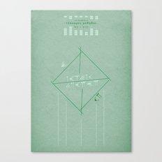 Ar Numerat   QUADRIVIUM - MINIMALIST POSTER Canvas Print