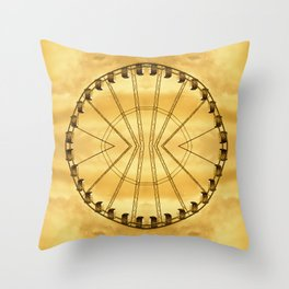 Carnival Cryptography Throw Pillow