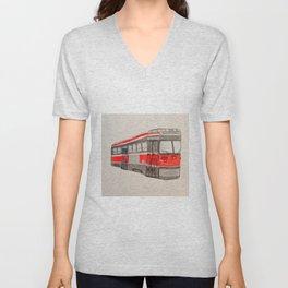 TTC Toronto Streetcar 512 St Clair West Station Unisex V-Neck