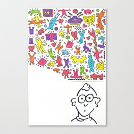 KEITH HARING TRIBUTE Canvas Print