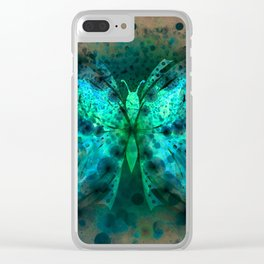 Butterfly Abstract G541 Clear iPhone Case