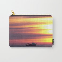 Fishing Boat At Sunrise Carry-All Pouch