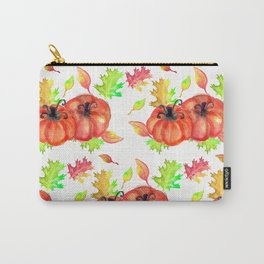 Watercolor Pumpkins Carry-All Pouch