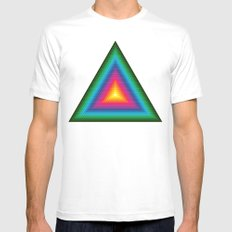 Triangle Of Life Mens Fitted Tee MEDIUM White