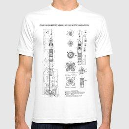 Soyuz Blueprint in High Resolution (white) T-shirt