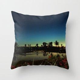 Sunset near the lake Throw Pillow