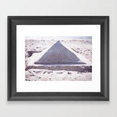 Sandy Triangle  Framed Art Print