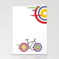 bike Stationery Cards featuring Bike! by Alice Wieckowska