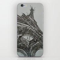 eiffel iPhone & iPod Skins featuring Eiffel by Esteban Garza