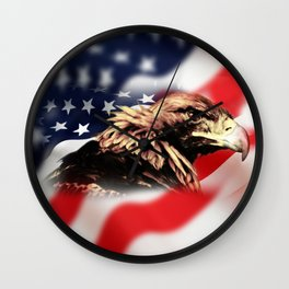 USA Eagle Wall Clock